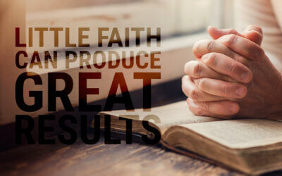 Week 29: Little Faith Can Produce Great Results