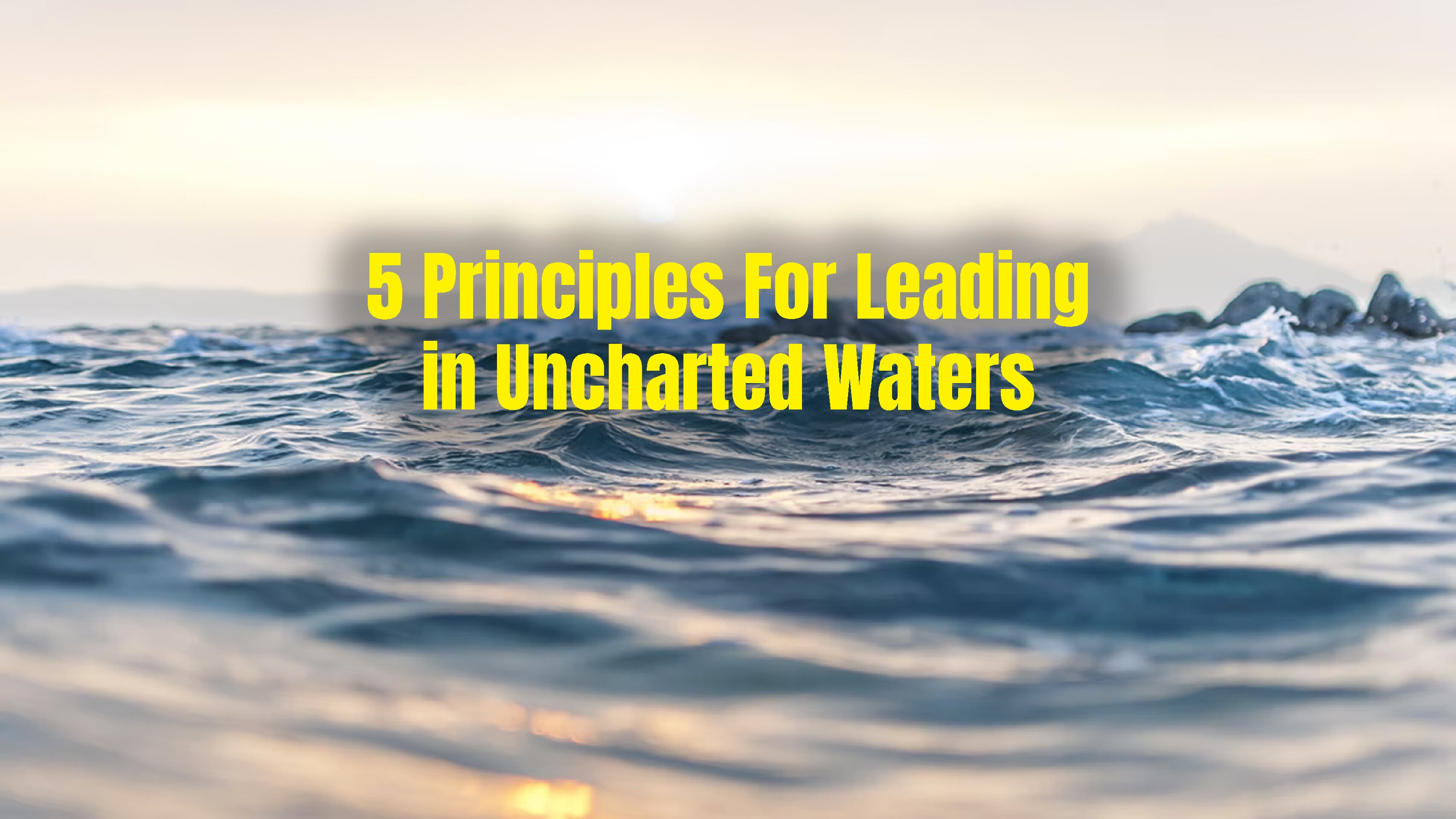 5 Principles For Leading in Uncharted Waters